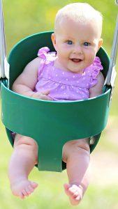 Jungle Gym Kingdom High Back Full Bucket Toddler Swing