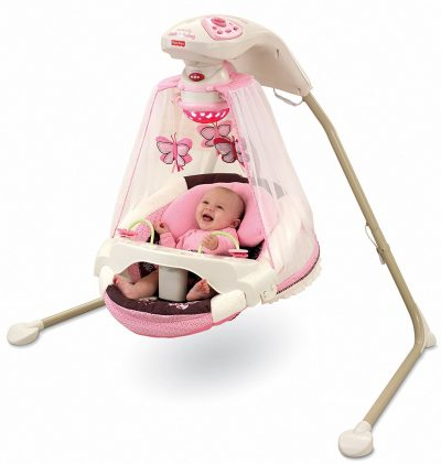 Fisher-Price - Papasan Cradle Swing, Mocha Butterfly
